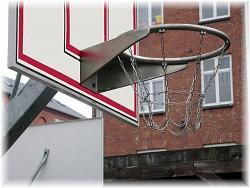 Basketballkorb aus Edelstahl mit Kettennetz