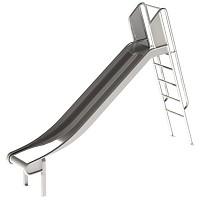 Edelstahl-Rutsche mit Leiter 1 m hoch Rutsche Leiterrutsche
