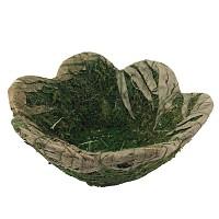 Mooskorb grün Osterkorb 19 cm Osternest Korb aus Moos