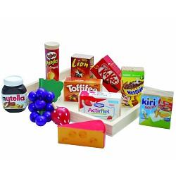 Kaufladen Zubehör Tanner Lebensmittelsortiment für Kinderküche und Kaufladen