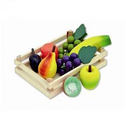 Tanner - Holzobst in Holzsteige Kaufladen Kaufmannsladen Zubehör Holzspielzeug
