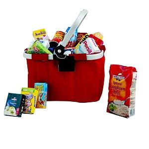 Kaufmannsladenzubehör - Carry Bag mit Lebensmitteln