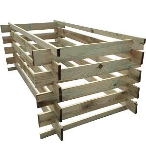 stabiler Holzkomposter Komposter imprägniert 175 x 85cm