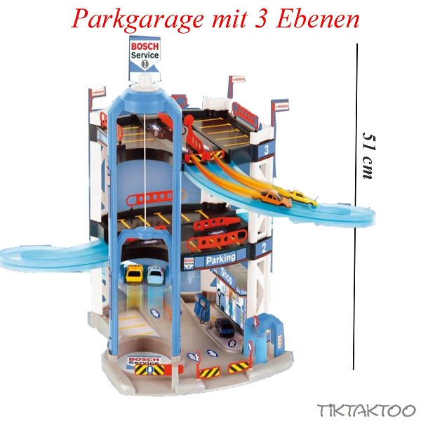 Toy Theo Bosch Car Service with 3 Floors  Parking Lot
