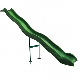 Anbaurutsche Wellenrutsche 3,80m grün