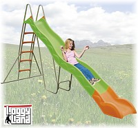 Loggyland - Wellenrutsche mit Leiter 3.80m lang