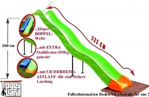 Anbaurutsche Wellenrutsche 3,32m