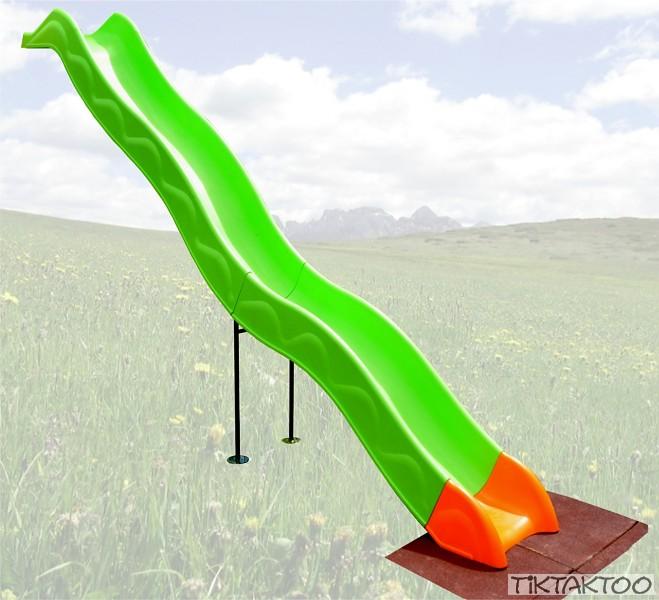 anbaurutsche wellenrutsche 332 cm rutsche kinderrutsche spielturm podest 1 50 m ebay. Black Bedroom Furniture Sets. Home Design Ideas
