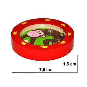 Labyrinth Affenmotiv Kugelspiel Geduldsspiel Minikugelspiel Geschicklichkeitsspiel