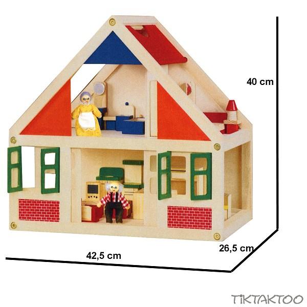 Puppenhaus Holz Komplett Mit Möbeln Puppenstube