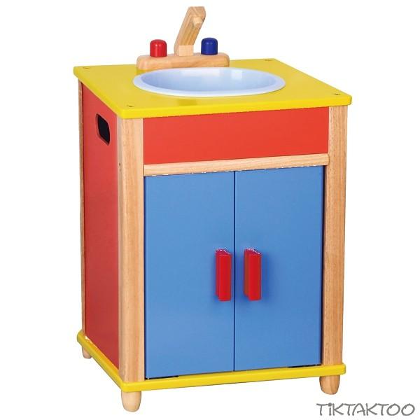 kitchen set toys Wood Sink TikTakToo