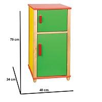 Kühlschrank aus Naturholz Kinderküche