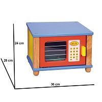 Mikrowelle aus Naturholz Kinderküche