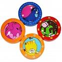 Geduldsspiel Minikugelspiel Labyrinth Geschicklichkeitsspiel Set 4 Stück verschied