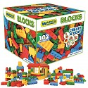 Wader 102 Blocks Bausteine Mega Bloxs in Aufbewahrungsbox bunt Kleinkinder