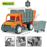 WADER GIGANT 62cm Müllauto Truck Müllwagen Kinder Spielzeugautos LKW