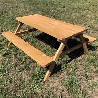 Picknicktisch geklappt