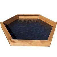 Sandkasten in 6-eck-Form aus lasiertem Kiefernholz, Durchmesser 170 cm