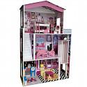 Puppenhaus mit Fahrstuhl und 17 teiligem Möbel- und Dekorationsset