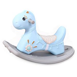 Schaukelpferd-Dino - Blau