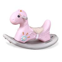 Schaukelpferd-Dino - Rosa