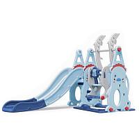 XL-Kleinkindkombi mit Schaukel und Rutsche - blau