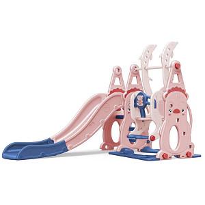 XL-Kleinkindkombi mit Schaukel und Rutsche - pink