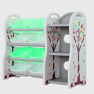 Kinderzimmer-Regal  - mint/weiß