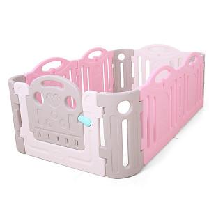 Laufgitter aus Kunststoff - grau/weiß/pink