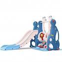 Kleinkindkombi mit Schaukel und Rutsche Robbe - Blau