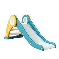 Kleinkindrutsche für Kinderzimmer und Garten - Kinderrutsche klappbar grün gelb weiss