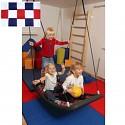 Mehrkindschaukel-Education M weiß/rot/blau Schaukel Sitz Familienschaukel
