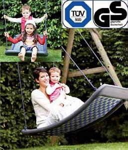 Mehrkindschaukel-Standard L blau/silber Familienschaukel