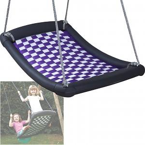 Mehrkindschaukel-Standard M silber/violett Familienschaukel