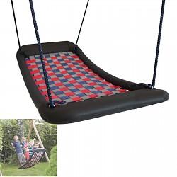 Mehrkindschaukel Standard L silber/rot/blau Familienschaukel Schaukel Sitz