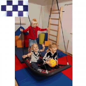 Mehrkindschaukel Education M weiß/blau Schaukel Sitz Familienschaukel