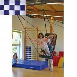 multi child swing silver/blue