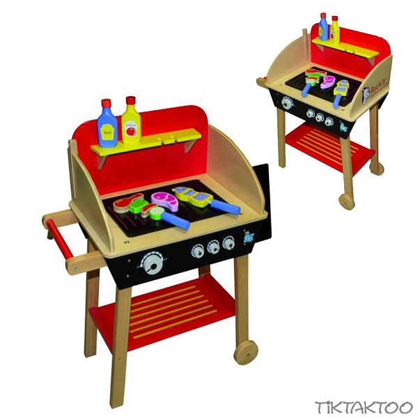 holzgrill kindergrill grill kinderk che spielk che zubeh r barbecue spielzeug ebay. Black Bedroom Furniture Sets. Home Design Ideas