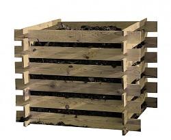 Holz-Komposter Kompostsilo 100x100x70 cm -KDI- Stecksystem